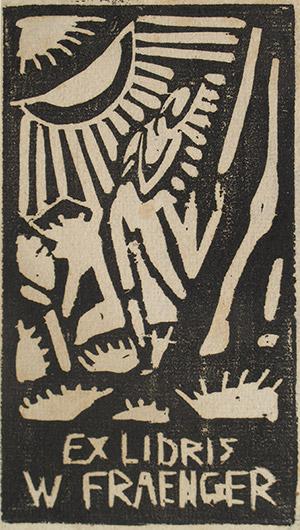 Exlibris Wilhelm Fraenger, von Zachmann um 1913